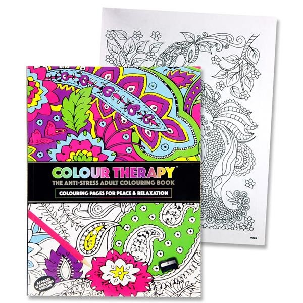Book Colouring Adult A4-32 Pages Gift Colour Pad Artist Designs Stress Relief