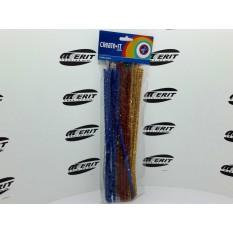 Chennille / Pipe Cleaner Glitter x 50 ( 1 x 5 )
