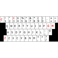 Wired Maltese Multimedia Keyboard with numeric keypad