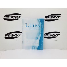 A6 - Lines Collection Note Book ( x 50 )