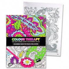 Adult A4 Colour Therapy Book / Anti Stress - 32 designs