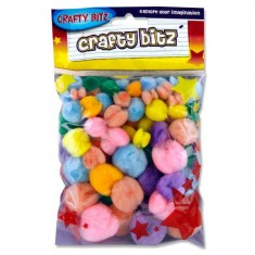 Craft Bitz - Pom Pom - Pastel Colour