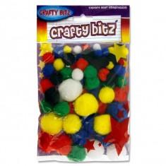 Craft Bitz - Pom Pom - ( 1 x 12 ) Dark Colour