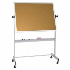 Cork Board Aluminium Frame Size 90 x 120 on Wheels