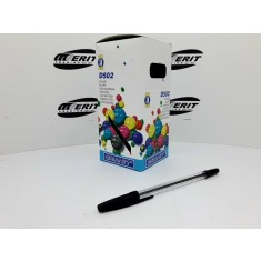 Ball Pen D502 - Transparent Body - Black   ( x 50 )