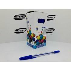 Ball Pen D502 - Transparent Body - Blue   ( x 50 )