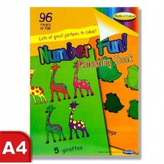 Colouring Book - Perforated 96 pages - Number