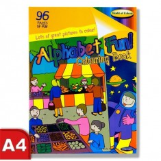 Colouring Book - Perforated 96 pages - Alphabet