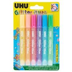 Glitter Glue UHU - PASTEL