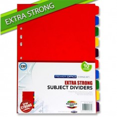 Dividers Board A4 - EXTRASTRONG - 10 Part
