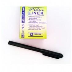 Non-Perm Fine Liners Black 1.0 tip x 12