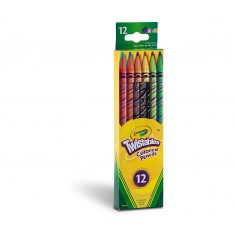 Crayola - Colouring Pencils x 12 Erasable Twist