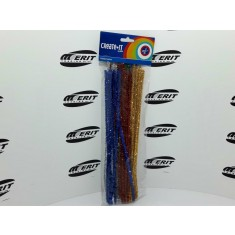 Chennille / Pipe Cleaner Glitter x 50 ( 1 x 5 )