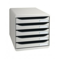 Desk Top Cabinet x 5 Drawers Grey