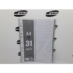 Dividers PVC A4 - Grey 1 - 31 ( x 30 )