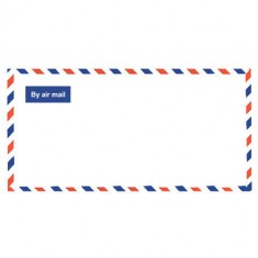 Env size 11 x 23 - AIR - MAIL + SecStrip - Plain ( SW 037 )