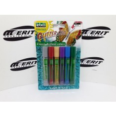 Glitter Glue x 6 Blister Assorted