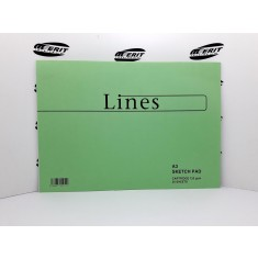 A3 - Lines Collection Sketch Pad ( x 15 )