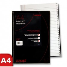Register A4 Hard Cover 192 Pages Index