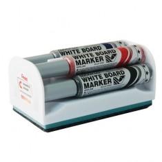 White Board eraser + 4 Markers - PENTEL