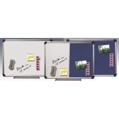 White / Flex Board - Magnetic / Felt, Aluminum Frame size 60 x 90