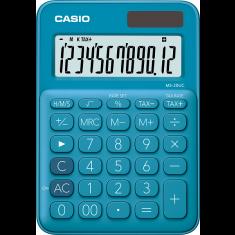 CASIO - 12 digits - Solar - Size 86 x 120mm - BLUE