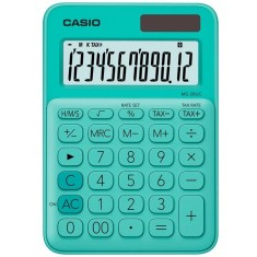CASIO - 12 digits - Solar  - Size 86 x 120mm - GREEN