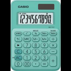 CASIO - 12 digits - Solar - Size 86 x 120mm - L -BLUE