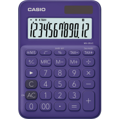CASIO - 12 digits - Solar - Size 86 x 120mm - PURPLE