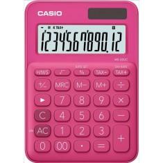 CASIO - 12 digits - Solar - Size 86 x 120mm - RED