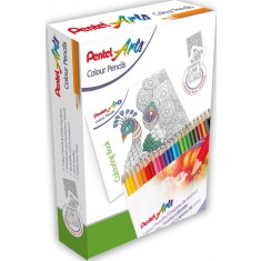 Pentel - Coloring Pencils + Drawing Book