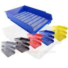 Desk Trays Plastic F/C Red