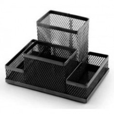 Mesh Desk Pen Holder - Black
