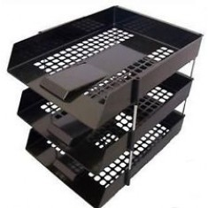 Desk Trays Plastic F/C Black - Set