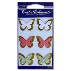 Icon Craft Card 6 Stand-out Embellishments - Butterflies